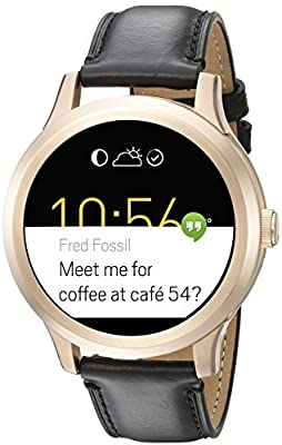 Fossil Q Founder Black Leather Touchscreen Smartwatch