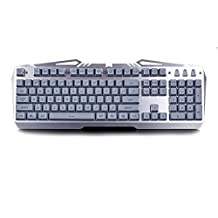 Xenics Storm X Profeesional Metal LED Gaming Keyboard TITAN Design , Key sense , Durability Metal Case Double Injection Keycap Water Proof (Gray Color)