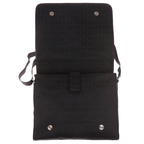 nylon Besace noir et cuir cha25612 ref en Chabrand qdAvEd