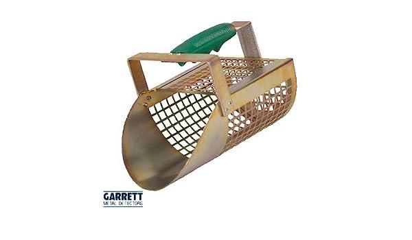 Pala Tamiz Arena Garrett Sand Scoop de Metal Perforada Perforada para Ricerche (Playa mar río Lago battigia Shovel para Metal Detector Hunting cercametalli ...