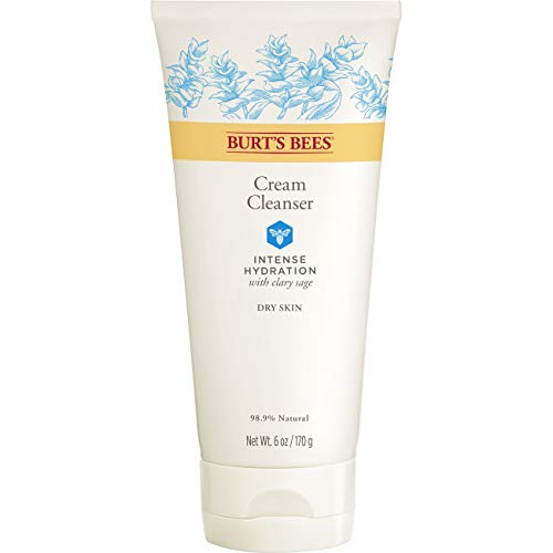 (Burt's Bees Intense Hydration Cream Cleanser, Moisturizing Face Wash, 6 Ounces)