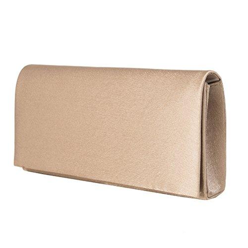Bolsos estilo cartera , Evening Bag , Satén Mod. 2088 by fashion-formel Taupe.