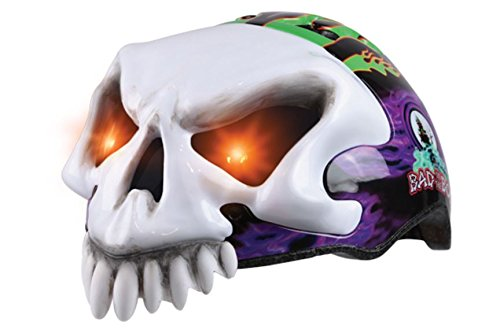 (Monster Jam 25 Grave Digger Bicycle Helmet With Light Up)