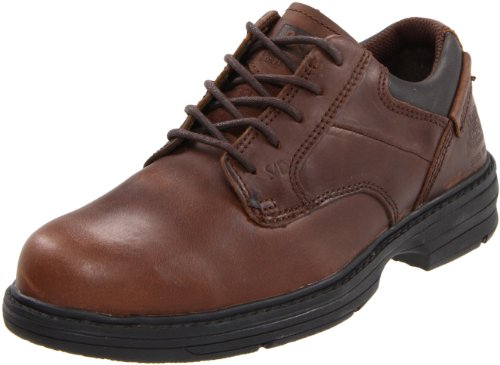 Caterpillar Men's Oversee Steel Toe Oxford,Dark Brown,10.5 W US