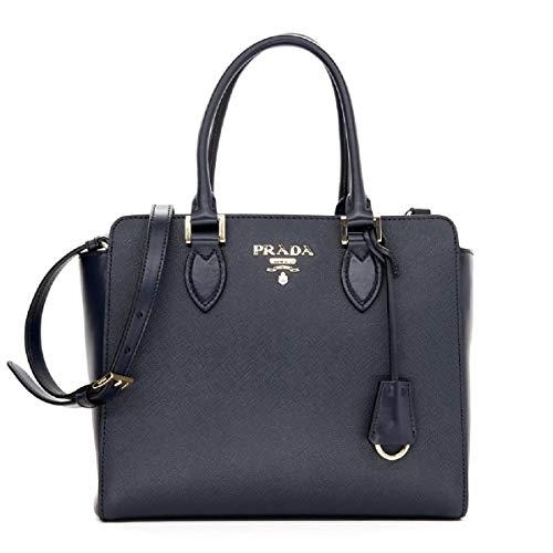 Prada Women s Navy Blue Saffiano Lux Leather Handbag 1BA118  Handbags   Amazon.com 268a9e7a52612