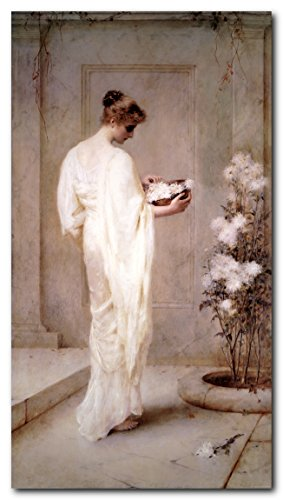 Wall Decor Victorian Lady with Flowers Henry Thomas Schafer Divinely Fair Victorian Art Print Poster - Ladies Pictures Victorian