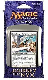 Magic the Gathering (MTG) Journey Into Nyx Intro Pack / Theme Deck – Mortals of Myth – White (Includes 2 Booster Packs)