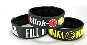 Fall Out Boy And Nirvana And Blink-182 New 3Pcs(3X) Bracelet Wristband Fon2Bk