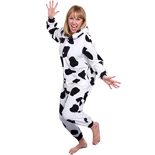 f672fa441d ... Silver Lilly Unisex Adult Pajamas - Plush One Piece Cosplay Cow Animal  Costume · Previous ·   Next