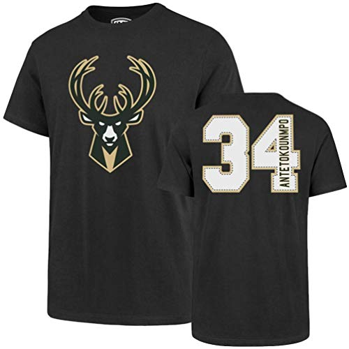 NBA Milwaukee Bucks Men's Player OTS Rival Tee, Giannis Antetokounmpo/Charcoal, Medium (T-shirt Nba La)