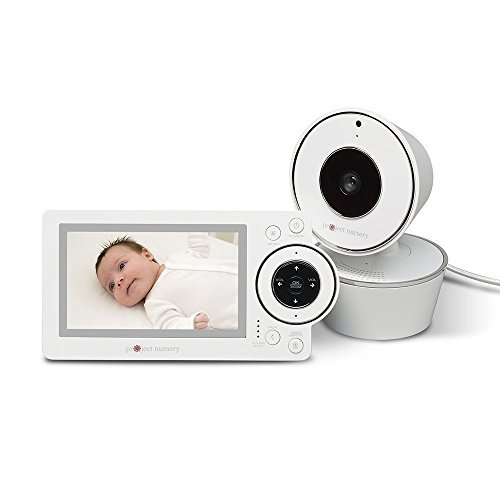 Project Nursery 4.3 Video Baby Monitor System with Room Temperature Sensor, Motion and Sound Detection Alerts, Two Way Communication, Infrared Night Vision and Range up to 800 Feet