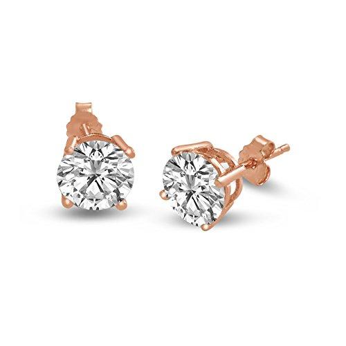 Sterling Silver Basket Round Earrings