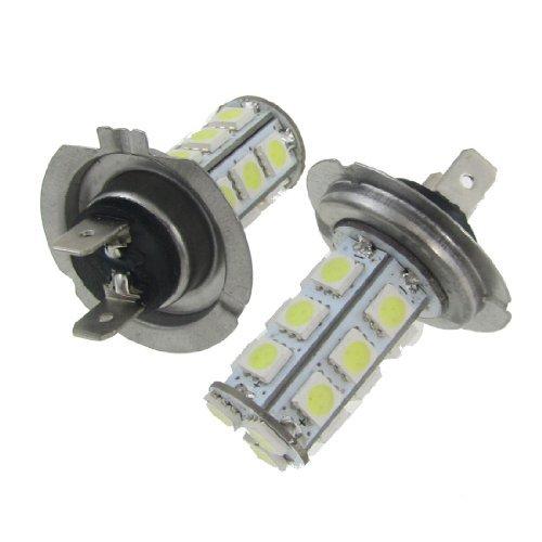 eDealMax 2x H7 18 SMD 5050 LED voiture Strob flash antibrouillard lampe 12V Ampoules Blanc