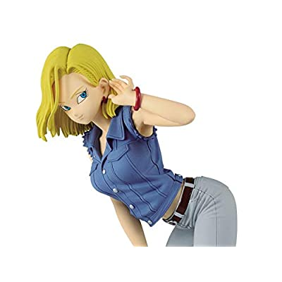 Banpresto 35917 Dragon Ball Z Glitter & Glamours Android No.18-II Figure (Blue Shirt Ver.): Toys & Games