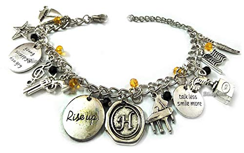 Broadway Musical Alexander Jewelry Merchandise Charm Bracelet Rise Up Friendship Gifts - American Lin-Manuel Miranda Chain Bangle Bracelets Women Costumes]()