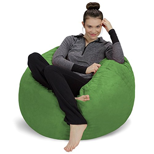 Sofa Sack - Plush, Ultra Soft Bean Bag Chair - Memory Foam Bean Bag Chair with Microsuede Cover - Stuffed Foam Filled Furniture and Accessories for Dorm Room - Lime 3' ()