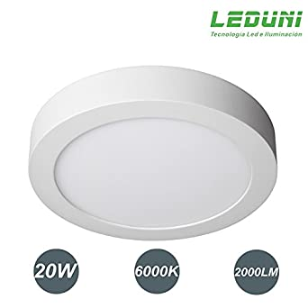DOWNLIGHT PANEL SUPERFICIE LED CIRCULAR 20W plafon Redondo Para ...