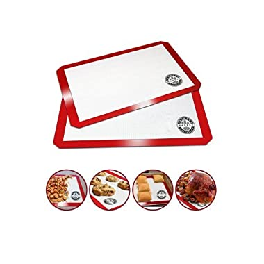 Silicone Baking Mats (2 Piece Set) - Best Non-stick Professional Grade Baking Mats Available - Custom Corners Designed for a Perfect Fit (11