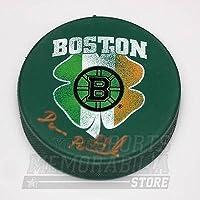 $79 » David Pastrnak Boston Bruins Signed Autographed St. Patrick's Irish Flag Puck
