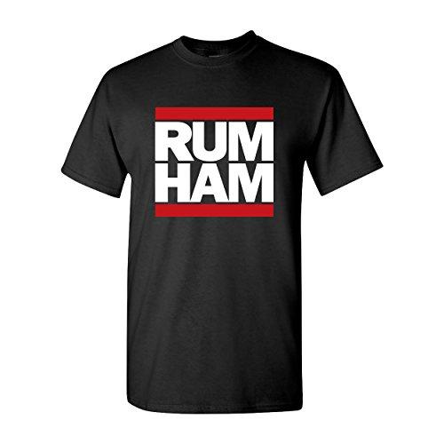 Day Owl Rum Ham Adult Unisex Short Sleeve T-Shirt (Medium)