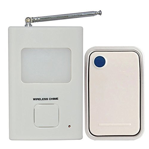 Homesafe Electronic Wireless Remote Push Button Doorbell,...