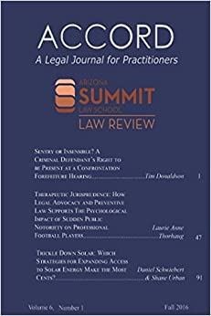 Accord A Legal Journal For Practitioners Volume 6 Number 1 Fall 2016