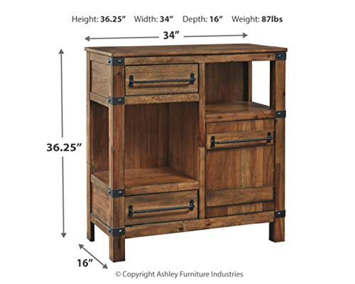 Signature Design by Ashley - Roybeck Casual Wooden Accent Cabinet, Brown