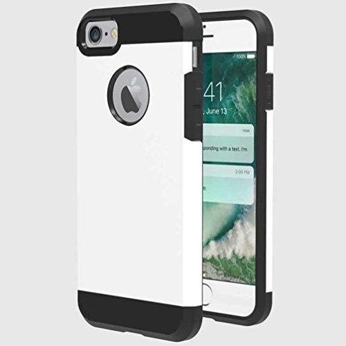 """4.7"""" iPhone 7 Coque, AOFad Case 2 à 1 Protection des lourds Mince blanc Plastique Armure Accessoires Série Pour Femme Homme L147"""