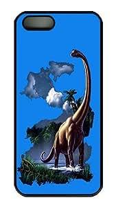 iPhone 5s Case, Brachiosaurus Hard PC Plastic Case Cover for iPhone 5s/5 Black