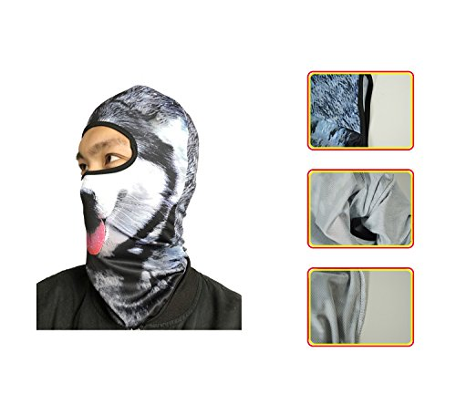 Betwoo Polyester Animal Balaclava Hood Full Face Mask Hats for Motorcycle/Cycling (Dog 1) by Betwoo (Image #4)
