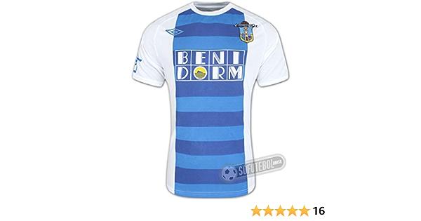 Umbro - Camiseta de fútbol del Benidorm CF (primera equipación, temporada 2010-2011) BLUEWHITE Talla:XXL: Amazon.es: Deportes y aire libre