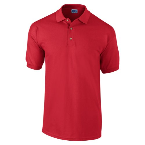 Gildan Mens Ultra Cotton Pique Polo Shirt (L) (Red)