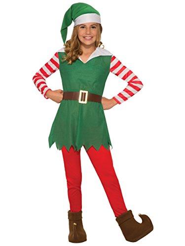 Forum Novelties Costume Santa's Helper-Girl Medium, Multi Color, One Size -