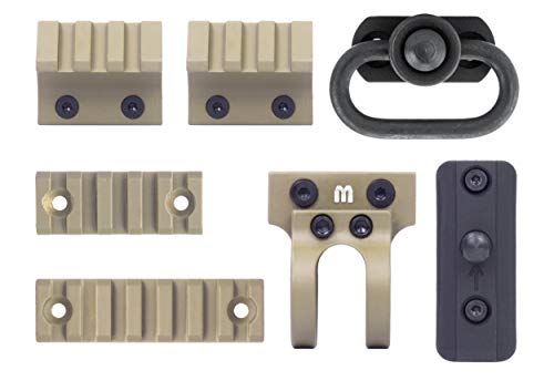 Foregrip Cover - Monstrum Tactical Keymod Picatinny Rail Section Value Pack (Rail Section + Accessory Pack (Flat Dark Earth))