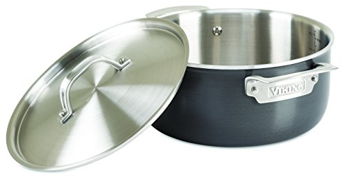 Viking 5-Ply Hard Stainless Dutch Oven with Hard Anodized Exterior, 5 Quart