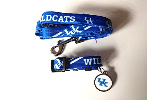Kentucky University Wildcats Pet Set Dog Leash Collar ID Tag MEDIUM