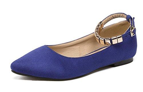 YCMDM donne ha indicato i pattini Scarpe bocca superficiale che ballano i pattini Scarpe Primavera Autunno singoli , blue , 39