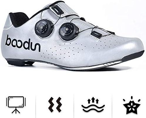 DRAKE18 Chaussures de Cyclisme sur Route, antidérapants Hommes Adultes Respirant réfléchissants résistant à l'usure et Les Femmes d'équitation Sports de Plein air,44