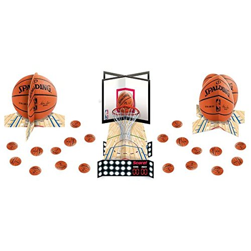 Review Sports and Tailgating NBA Party Spalding Basketball Table Decorating Kit, Paper