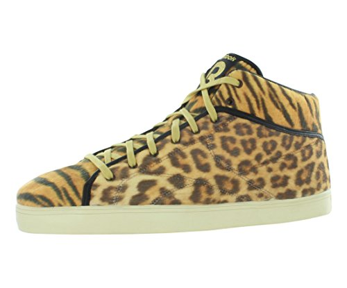 Reebok Heren Casual Fashion Sneakers Maat 7.5 M V54201 Sh Prime Court Cheetah Earth / Goud / Zwart / Swag Oranje