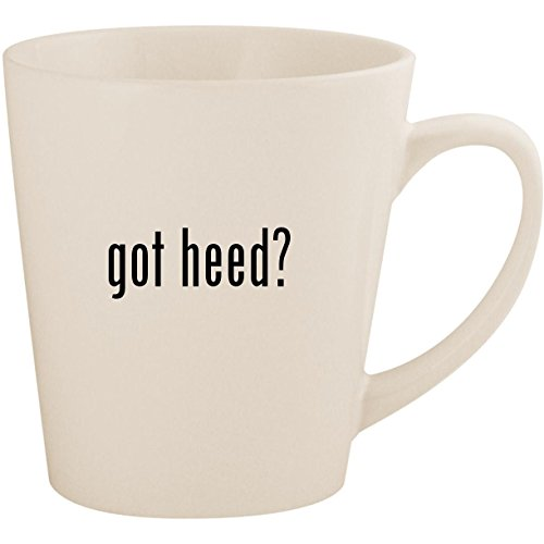 (got heed? - White 12oz Ceramic Latte Mug Cup)