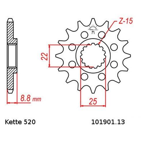 offen Kette RK 520 MXZ4 114 13//49 Kettensatz Beta RR 300 Off-Road 2T 13-15