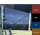 Sideblocker - Awning Side Sunblock Panel- Fits any conventional awning ( Black)