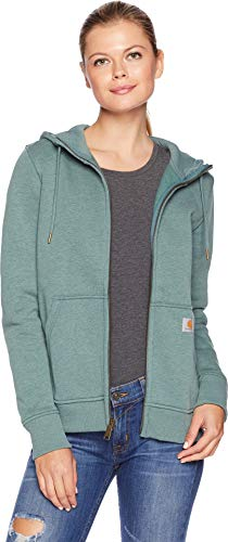 Carhartt Women's Clarksburg Full Zip Hoodie, elm Heather, Medium