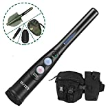 INTEY Metal Detector Pinpointer Kit with 180° Rotatable Shovel & Multifunctional Waist Bag for 360° Scanning Treasure Together with Any Metal Detector