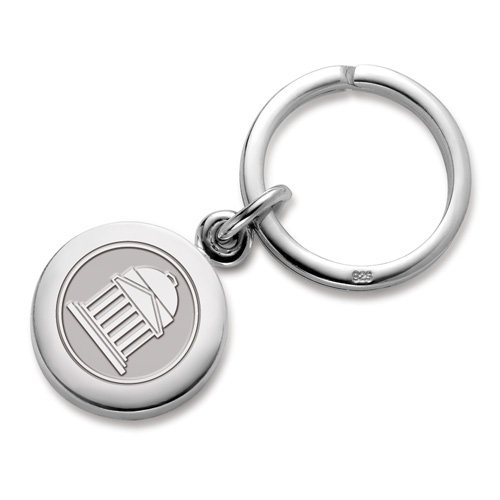 SMU Sterling Silver Insignia Key Ring by M. LaHart