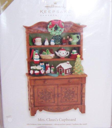 2012 Keepsake Ornament Club Exclusive Repaint Mrs Claus's Cupboard Hallmark Christmas Ornament -  QXC5043