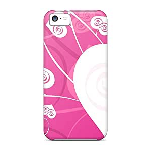 High Quality JosareTreegen Love Heart Shaped Leaves Skin Cases Covers Specially Designed For Iphone - 5c