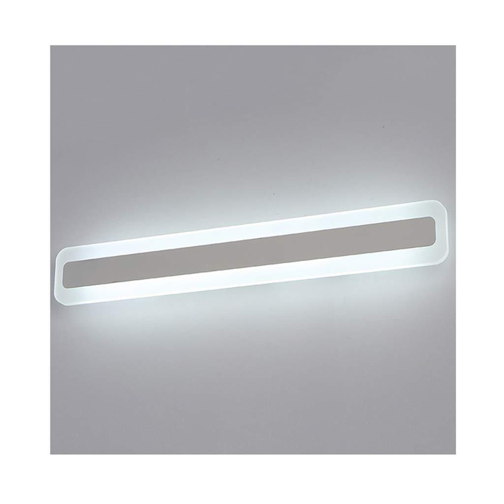 &Spiegelleuchte Spiegel Frontleuchte moderne minimalistische LED Acryl Make-up Lampe Wandleuchte (40-120cm) (Farbe   Warmes Licht-18W 60CM)