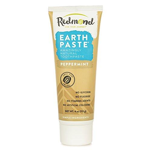 Redmond Earthpaste - Natural Non-Flouride Toothpaste, Peppermint, 4 Ounce Tube (1 - Redmond Town